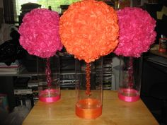 home made table center pieces | Escort Card Table Centerpieces Finished!