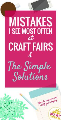 722 best craft sale stuff images on pinterest etsy etsy business common craft show mistakes simple solutions to sell more fandeluxe Image collections