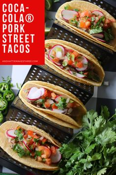 Coca-Cola® Pork Street Tacos  #AD Football just got more fun with these delicious Coca-Cola® Pork Street Tacos! Find the recipe on the blog and pick up everything you need at @samclub! @shespeaksup #HostWithCocaCola