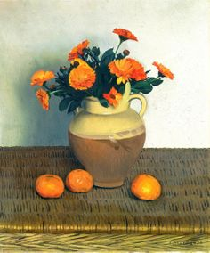 Félix Vallotton (1865-1925) — Marigolds and Tangerines, 1924 (1002x1210)