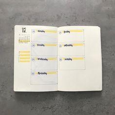 Bullet journal weekly layout. | @bujo_of_norway