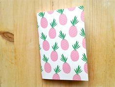 jotter pocket notebook mini journal pineapple by mipluseddesign, €6.50