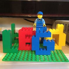 Idea.. Build birthday boy's Name with Lego's
