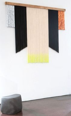 Master wall hanging, made from wood, cotton thread, metallic thread and symmetrical to our hearts' content
