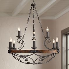 Madera 34 And One Half Inch Wide Black Iron Hand Forged Chandelier Farmhouse Chandelier, Outdoor Chandelier, Kitchen Chandelier, Chandelier In Living Room, Rustic Chandelier, Chandelier Lighting, Chandelier Ideas, Rustic Lighting, Kitchen Lighting