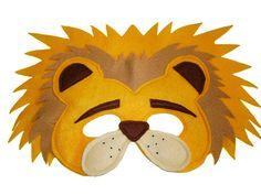 Safari Animal León infantil sentía máscara y cola Set