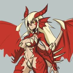 Doodle up a monster girl version of Elchulus (Vindictus). Spamming this boss can cost a whole day, so taking a break :v Character Inspiration, Character Art, Character Design, Anime Fantasy, Fantasy Girl, Fantasy Characters, Anime Characters, Monster Girl Encyclopedia, Monster Hunter Art