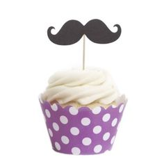 Amazon.com: Dress My Cupcake Mustache Cupcake Topper and Wrapper DIY Kit, Standard, Cherry Blossom Polka Dots, Set of 50: Kitchen & Dining
