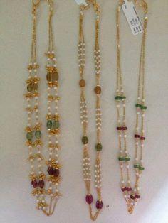 .. Jewelry Design Earrings, Gold Earrings Designs, Gold Jewellery Design, Bead Jewellery, Temple Jewellery, Pendant Jewelry, Beaded Jewelry, Jewelery, Ruby Jewelry