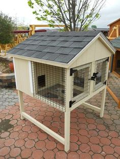 cute double rabbit hutch
