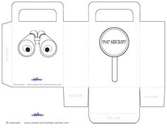 Medium Printable Spy Detective Favorbag - Coolest Free Printables