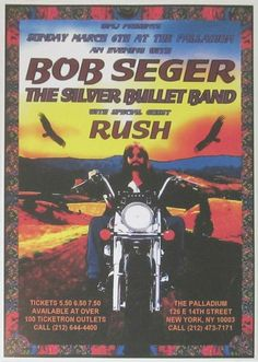 Soul Music, Music Is Life, Outlet New York, Tour Posters, Music Posters, Vintage Concert Posters, Bob Seger, House On The Rock, Mayday Parade