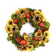 Sunflower Pear Wreath