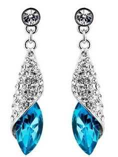 'Choose Fantastic Water Drop Swarovski Crystal Earrings' is going up for auction at  9pm Fri, Apr 26 with a starting bid of $1.