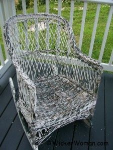 Painting Wicker Furniture-Hints, Tips, & Solutions to Paint Like a Pro How-to Paint Wicker Furniture article by wicker furniture repair expert, teacher and author Old Wicker Chairs, Wicker Rocker, Outdoor Wicker Furniture, Wicker Table, Wicker Sofa, Wicker Baskets, Wicker Trunk, Wicker Purse, Wicker Man