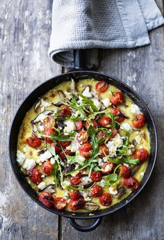 POLENTA BAKE WITH FETA, TOMATO AND MUSHROOMS | The Best Healthy Recipes
