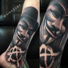 V for Vendetta tattoo by Siege of Revival Art Collective- Phoenix, AZ