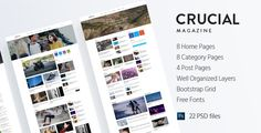 Crucial - Magazine Bootstrap 3 Responsive HTML Template