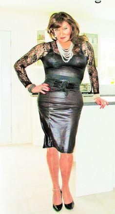 Leather and lace II Leather And Lace, Leather Skirt, Lbd Dress, Transgender Girls, Crossdressers, Plus Size Fashion, Dressing, Beautiful Women, Female