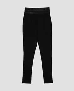 Image 8 of BIKER LEGGINGS WITH WIDE WAISTBAND from Zara
