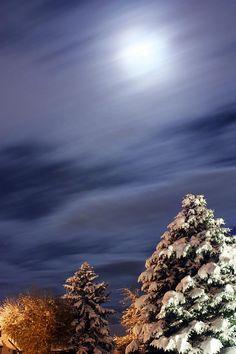 Snow Moon Photograph  - Snow Moon Fine Art Print