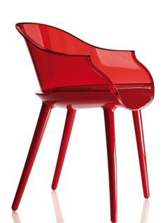Polycarbonate #chair with armrests CYBORG | Chair by @magisdesign #red