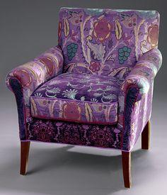 Charmant Salon Purple Chair Mary Lynn O Shea Upholstered Chair Pillow Artful Home    Stylehive