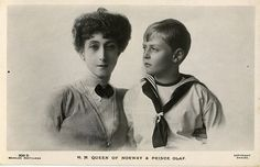 Königin Maud von Norwegen mit Sohn Olaf, Queen of Norway with son Olaf | Flickr - Photo Sharing!