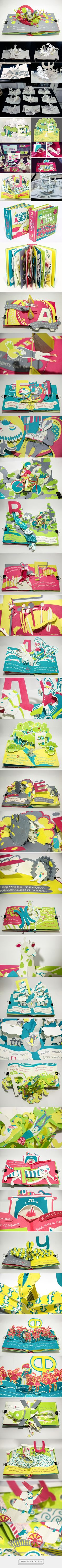 pop-up book 3D Alphabet on Behance