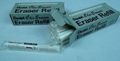 (2) 1 Dozen Pentel Clic Eraser Refill's New Old Stock #Pentel
