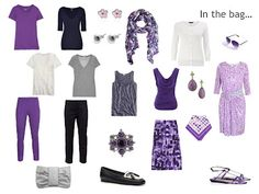 navy and purple - what to pack for a romantic trip