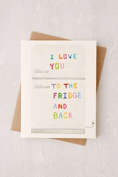 Dear Hancock I Love You To The Fridge And Back Card - Urban Outfitters