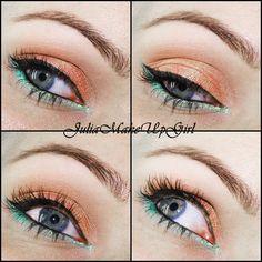 Coral & teal - Seashell Makeup  - #coral #
