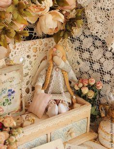 Куклы Тильды ручной работы. Ярмарка Мастеров - ручная работа Ангелочек сладких снов сонный ангел Тильда сплюшка кукла текстильная. Handmade....