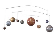 This mobile is an ideal bedroom accessory for budding astronomers, or hang it over a crib to stimulate a toddler's inquisitive mind.