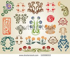 Art Nouveau Flower Art Nouveau Flowers Plants