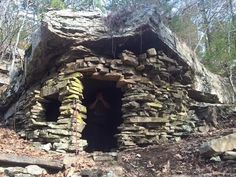 Civil War hideout on the south side of Mt Magazine in Arkansas