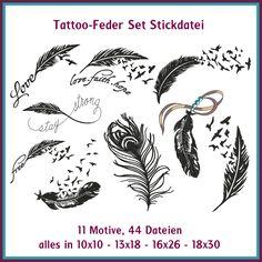 Tattoo Feder Set Stickdateien. Vielleicht mal wieder reduziert? Siehe Facebook ...