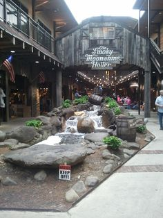 I love to sit here on those cold winter nights while we're in Gatlinburg and listen to the live music.
