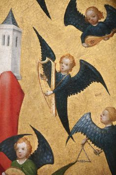 Alte Pinakothek, Munich; origin: Cologne / Mary and child with virgins and musician angels (detail) / c. 1440