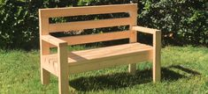 A wooden bench is a great project for a beginning DIYer. Whether you'd like a simple bench for your backyard or basic plan to get creative with, this project .