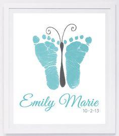 baby fodaftryk håndaftryk barnedåb gave dåbsgave barselsgave