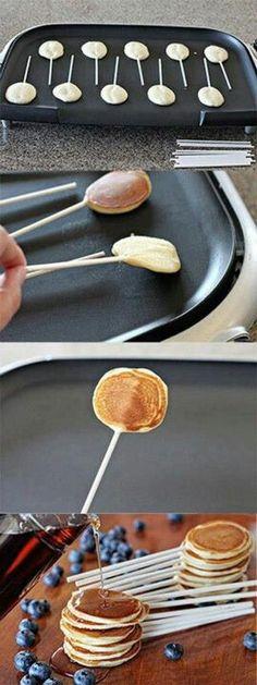 Mini-Pfannkuchen to got! Coole Idee!