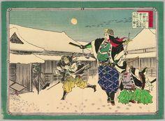 安達吟光: Night Attack of 47 Ronin - Abbreviated Japanese History - Artelino