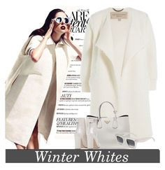 """""""Winter Whites"""" by conch-lady ❤ liked on Polyvore featuring moda, Burberry, Prada e CÉLINE"""