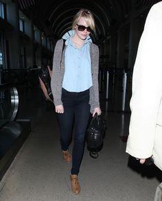 Emma Stone Photos - Emma Stone Touches Down In Los Angeles - Zimbio