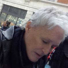 SnapWidget | #glennclose at radio today signing for fans :-)