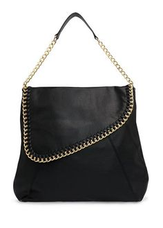 CHAIN TRIMMED HOBO BAG