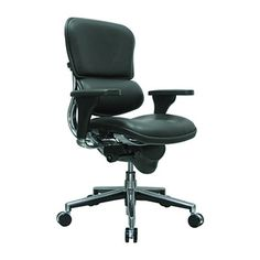 Ergohuman Leather #LE10ERGLO Eurotech's series of Ergohuman executive chairs & conference chairs were engineered with your total comfort in mind. These expensive office chairs are worth every penny. Aesthetics, form and function merge seamlessly into a comfortable office chair with infinite adjustments for unrivaled support. This black leather office chair is quite possibly the best ergonomic chair you could buy. Model# LE10ERGLO