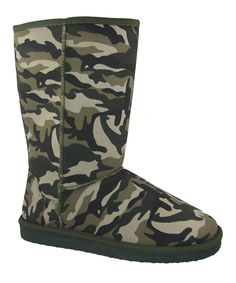 Take a look at this Camo Aling Boot on zulily today!